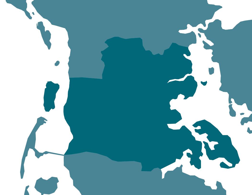 Kort over Sønderjylland